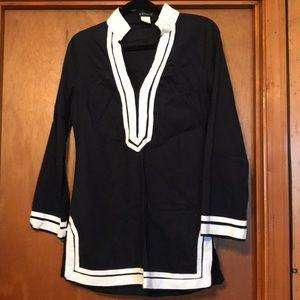 Navy and white tunic